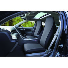 SCA Essentials Seat Covers - Black / Charcoal, Built-in Headrests, Front Pair, , scanz_hi-res