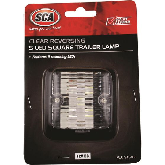 SCA Trailer Lamp - LED, Square, White, , scanz_hi-res