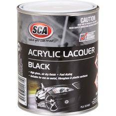 SCA Acrylic Paint - Black , 1 Litre, , scanz_hi-res
