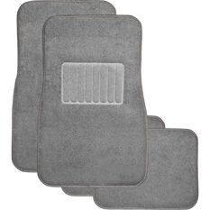 SCA Premier Car Floor Mats - Carpet, Charcoal, Set of 4, , scanz_hi-res
