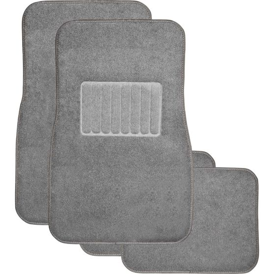 SCA Premier Car Floor Mats - Carpet, Charcoal, Set of 4, , scanz_hi-res