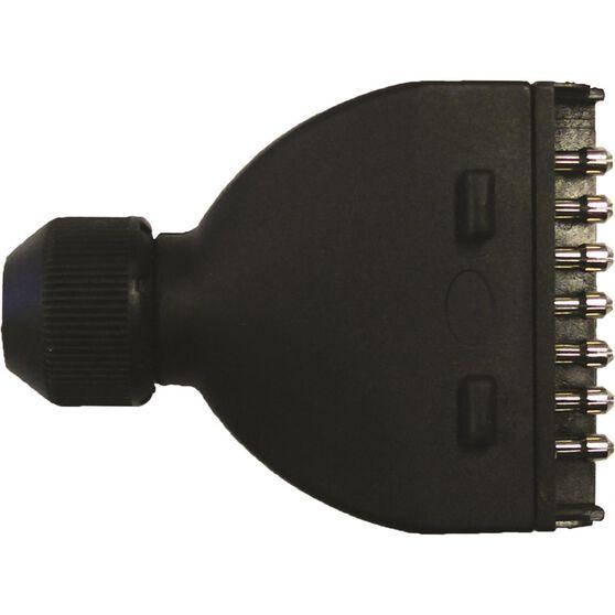 SCA Male 7 Pin Flat Plastic Trailer Plug, , scanz_hi-res
