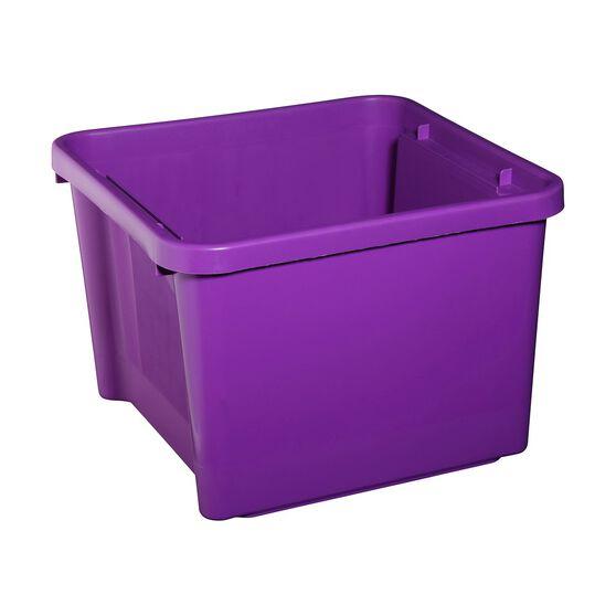 Plastic Storage Bin - Mauve, 30 Litre, , scanz_hi-res