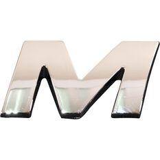 3D Chrome Badge - Letter M, , scanz_hi-res