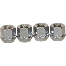Tapered Open End Nuts, Chrome - 12X1.25MM, , scanz_hi-res