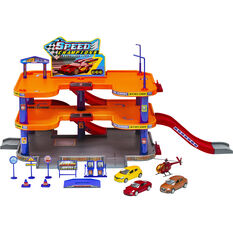 Garage Playset with 4 vehicles, , scanz_hi-res