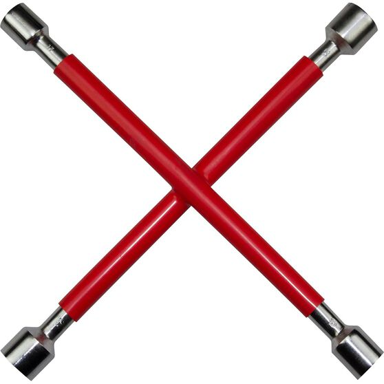 SCA Wheel Brace - Rubber Grip, Red, , scanz_hi-res