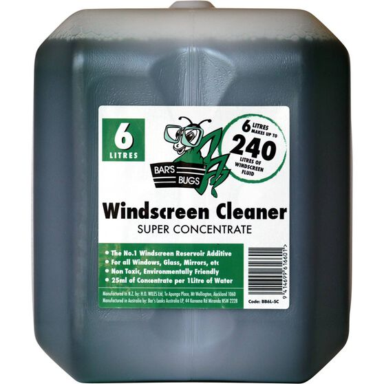 Bar's Bugs Super Concentrate Windscreen Wash - 6 Litre, , scanz_hi-res