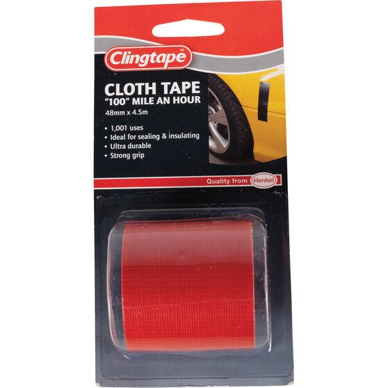 Clingtape Cloth Tape - Red, 48mm x 4.5m, , scanz_hi-res