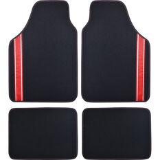 SCA Racing Car Floor Mats - Carpet, Black / Red, Set of 4, , scanz_hi-res