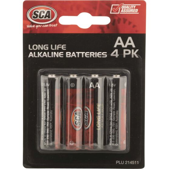 Battery - Alkaline, AA, 4 Pack, , scanz_hi-res