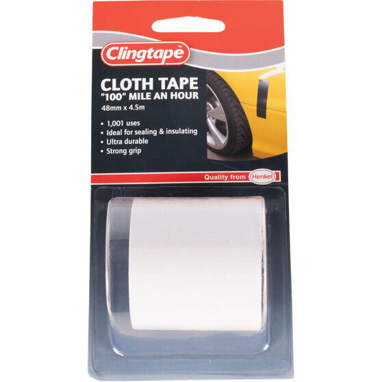 Clingtape Cloth Tape - White, 48mm x 4.5m, , scanz_hi-res