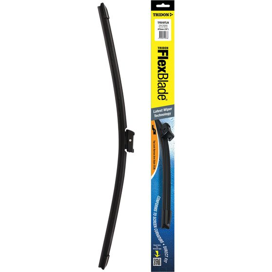 Tridon Flex Blade Single Wiper - 19in, Top Lock Narrow, , scanz_hi-res