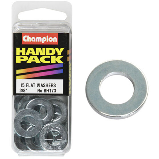 Champion Flat Steel Washers - 3 / 8inch, BH173, Handy Pack, , scanz_hi-res