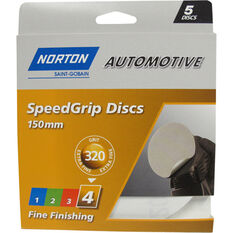 Norton Speed Grip Disc 320 Grit 150mm 5 Pack, , scanz_hi-res