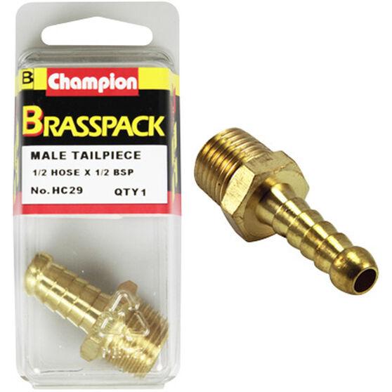 Champion Male Hose Barb - 1 / 2inch X 1 / 2inch, Brass, , scanz_hi-res