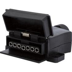 Trailer Socket - 7 Pin, Plastic, Flat, , scanz_hi-res