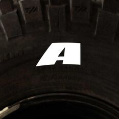 Tire Stickers - Letter A, , scanz_hi-res