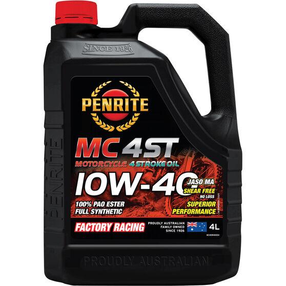 Penrite MC-4 PAO Ester Motorcycle Oil - 10W-40, 4 Litre, , scanz_hi-res