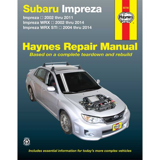 Haynes Car Manual For Subaru Impreza, WRX and WRX STI, 2002-2014 -89780, , scanz_hi-res