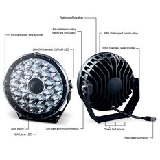 Ridge Ryder 224mm Laser LED Driving Light 100W with harness, , scanz_hi-res