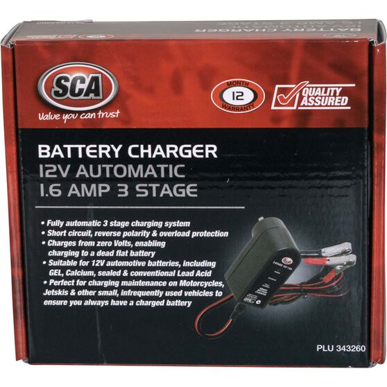 SCA Battery Charger - 3 Stage, 12V, 1.6 Amp, , scanz_hi-res