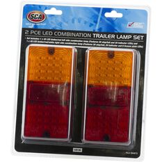 SCA Trailer Lamp - LED, Rectangle, Combination, 2 Pack, , scanz_hi-res