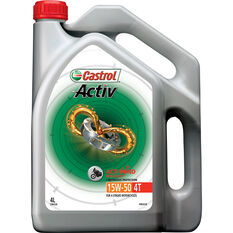 Castrol Activ 4T Motorcycle Oil - 15W-50, 4 Litre, , scanz_hi-res