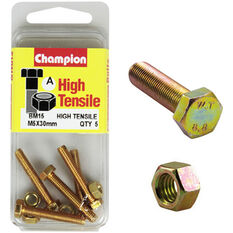 Champion High Tensile Bolts and Nuts - M5 X 30, , scanz_hi-res