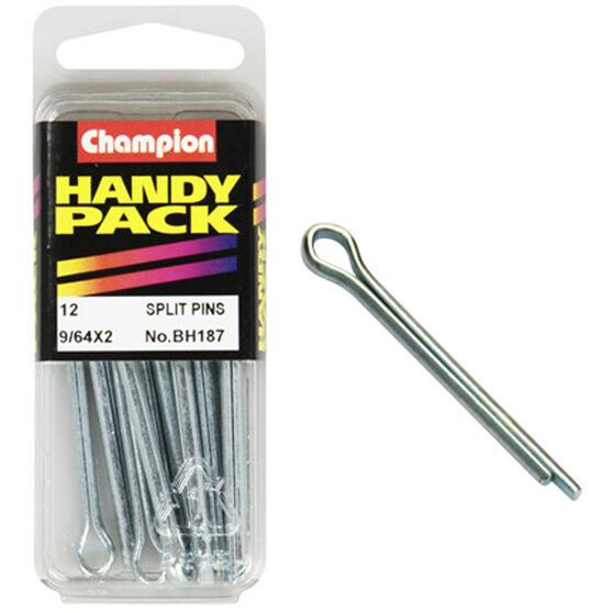 Champion Split Pins - 9 / 64inch X 2inch, BH187, Handy Pack, , scanz_hi-res