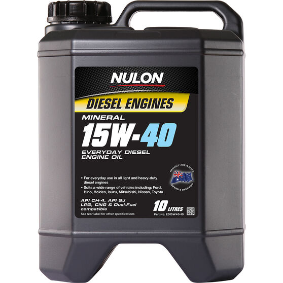 Nulon Mineral Everyday Diesel Engine Oil - 15W-40 10 Litre, , scanz_hi-res