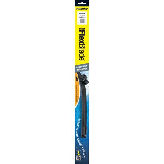 Tridon Flex Blade Single Wiper - 26in, Side Lock, , scanz_hi-res