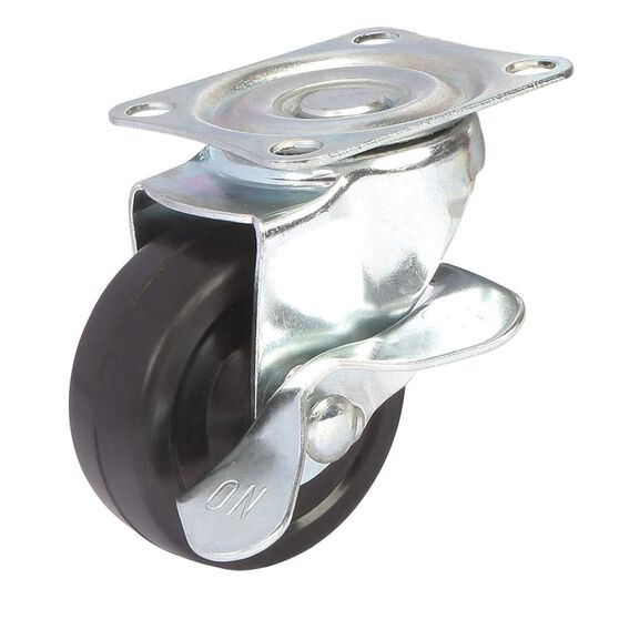 SCA Caster Wheel - 63 x 24mm, Metal Brake, Swivel, , scanz_hi-res