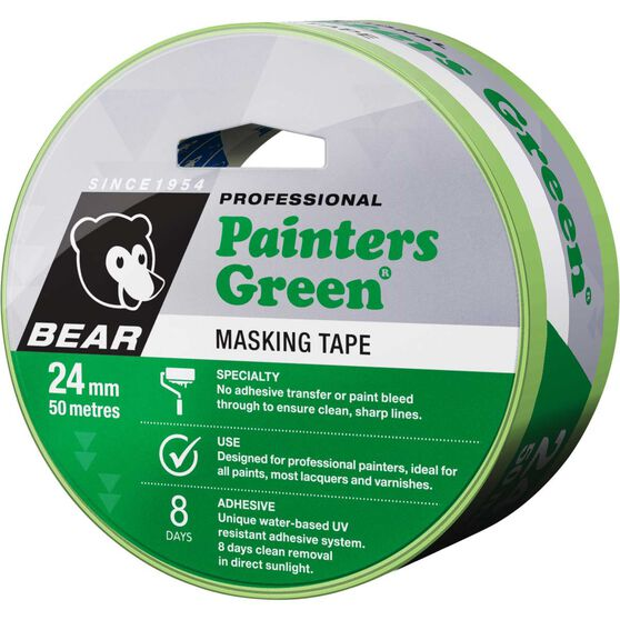 Norton Painters Masking Tape - Green, 24mm x 50m, , scanz_hi-res