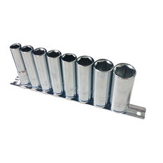 Socket Rail Set - 3/8 Drive, Metric, Deep, 8 Piece, , scanz_hi-res