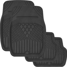 SCA Deep Dish Car Floor Mats - Black, Set of 4, , scanz_hi-res
