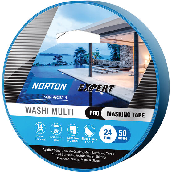 Norton Expert 14 Day Masking Tape - 24mm x 50m, , scanz_hi-res