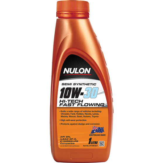 Nulon Semi Synthetic Hi-Tech Fast Flowing Engine Oil 10W-30 1 Litre, , scanz_hi-res