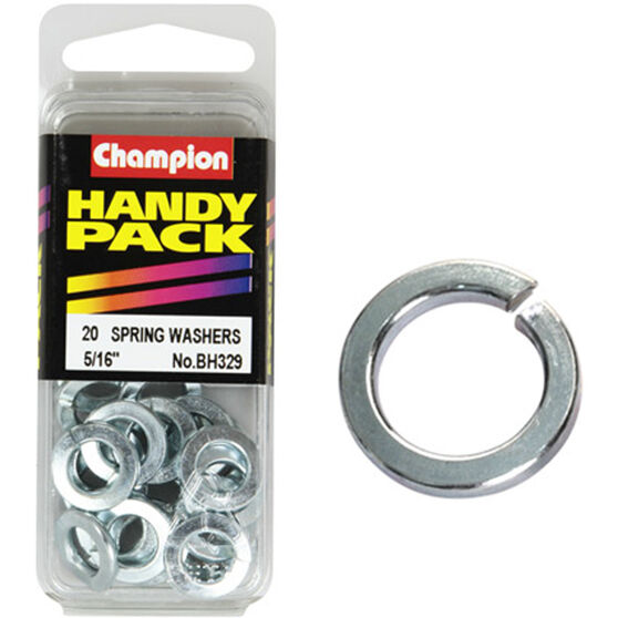 Champion Spring Washers - 5 / 16inch, BH329, Handy Pack, , scanz_hi-res