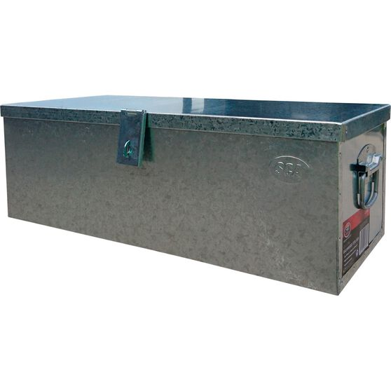 Security Tool Box - Galvanised, 65 Litre, , scanz_hi-res