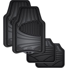 Armor All Car Floor Mats - Natural Rubber, Black, Set of 4, , scanz_hi-res