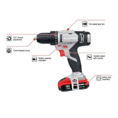 ToolPRO Drill Driver Kit - 18V, , scanz_hi-res