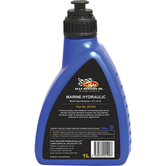 Gulf Western Power Trim and Steering Fluid 1 Litre, , scanz_hi-res