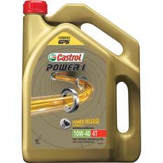 Castrol Power 1 4T Motorcycle Oil - 10W-40, 4 Litre, , scanz_hi-res