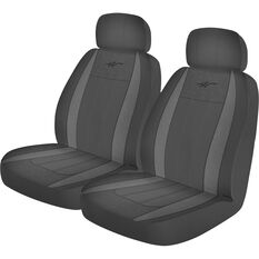 WR Fusion Seat Covers - Grey/Charcoal Adjustable Headrests Size 30 Airbag Compatible, , scanz_hi-res