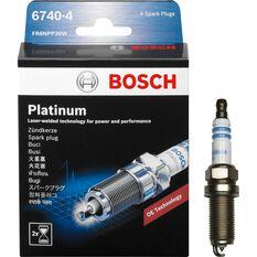 Bosch Platinum Spark Plug - 6740-4, 4 Pack, , scanz_hi-res