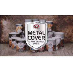 SCA Metal Cover Rust Paint - Enamel, Matt Black, 500mL, , scanz_hi-res