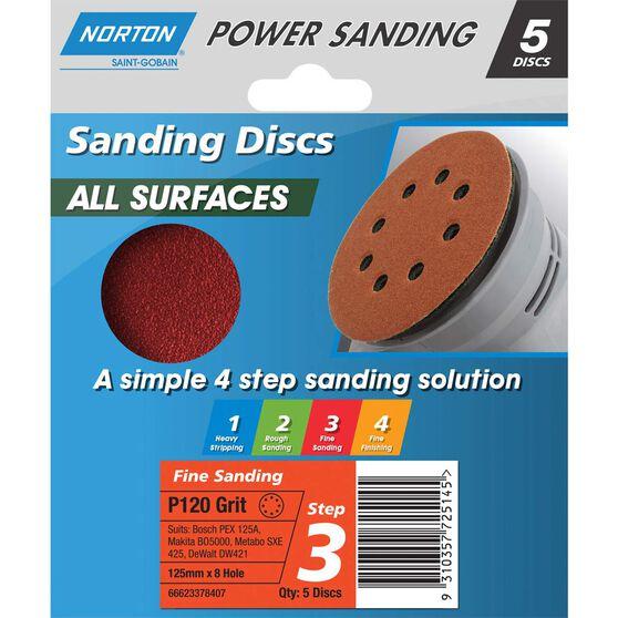 Norton Disc Sander 120 Grit 125mm, , scanz_hi-res