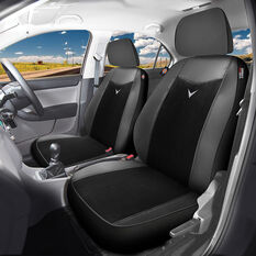 Dickies Hornet Seat Covers Black Adjustable Headrests Airbag Compatible, , scanz_hi-res