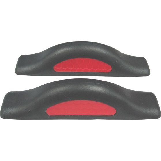 SCA Door Protectors - Black With Red Reflectors, 2 Pack, , scanz_hi-res